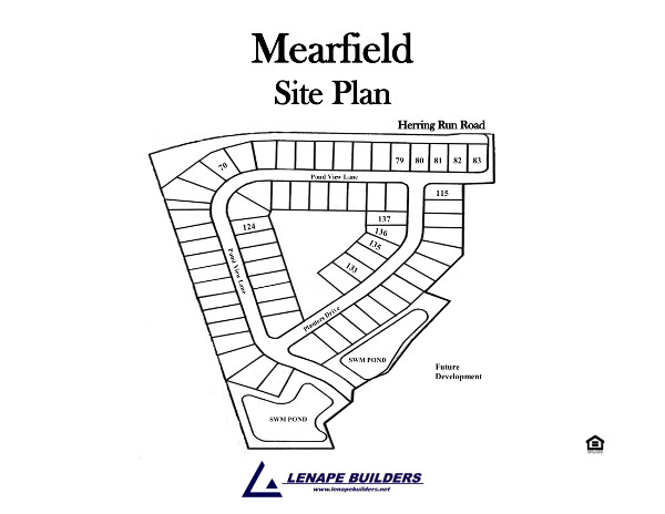 Community site plan mearfield lenape builders for Share builders plan