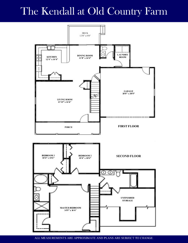 Floor plan the kendall old country farm lenape builders for Share builders plan