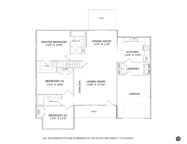 Floor plan the lakeside ii sunnyside village lenape for Share builders plan